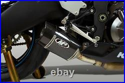 M4 Exhaust Kawasaki ZX6R 2009 through 2021 CARBON Street Slayer Slip On Canister