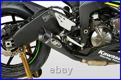 M4 Exhaust Kawasaki ZX6R 2009 to 2021 BLACK GP19 Slip On Muffler Free Shipping