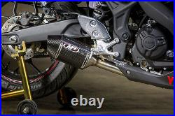 M4 Exhaust Yamaha R3 2015 16 17 18 19 20 Street Slayer Carbon Fiber Slip On