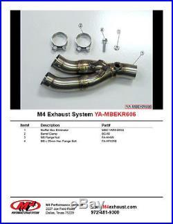 M4 Exhaust Yamaha R6 2006-2018 Muffler Box Eliminator kit