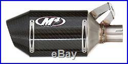 M4 Exhaust Yamaha R6 2006-2019 Street Slayer slip on with CARBON muffler