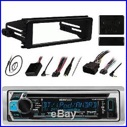 Marine Bluetooth AUX CD Radio, 98-2013 Harley Install CD Dash Kit Install Adapter