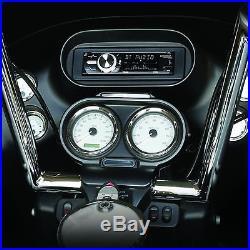 Marine CD Radio for 98-2013 HARLEY DAVIDSON TOURING+ Speaker FLHT FLHTC Dash Kit