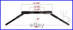 Meat Hook 14 Rise Custom Black Ape Hangers Bars Fat 1-1/4 Handlebars Harley