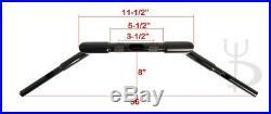 Meat Hook 16 Rise Custom Black Ape Hangers Bars Fat 1-1/4 Handlebars Harley