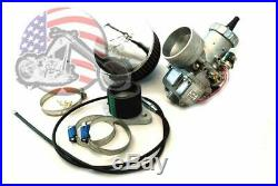 Mikuni 38mm Spigot Round Slide Carburetor Carb Kit Harley Ironhead Shovelhead XL
