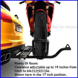 MotoTote Motorcycle Carrier MotoTote MTX Sport Bike Hauler Hitch Mounted withRamp