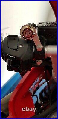 Motorcycle bike license plate flipper hider
