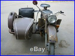 Motorcycle with a sidecar Ural M66 CJ750 BMW R71 retro vintage
