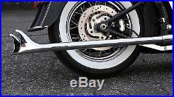Mutazu 36 Fishtail Fish tail Exhaust Slip On Mufflers 1995-16 Harley Touring