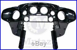 Mutazu Glossy vivid black front inner fairing fit Harley Electra Street glide