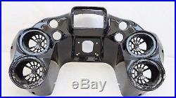 Mutazu Inner Front Fairing w Quad 6.5 Speaker pods Harley Road Glide 1998-2013