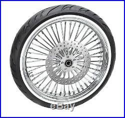 New 21 x 3.5 48 Fat King Spoke Front Wheel Chrome Rim WWW Tire Package Harley