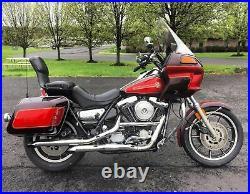 New Chrome 1-1/4 Front Engine Guard Motor Crash Bar Harley Davidson FXR Models