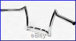 New Chrome Double Drop 8 Z Bar Handlebar Harley Softail Dyna Sportster Bobber