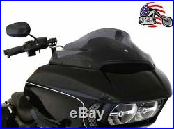 New Klock Werks 9 Sport Flare Dark Smoke Windshield 2015-2020 Harley Road Glide