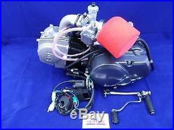 New Lifan 125cc Big Valve 4 Speed Semi Auto Pit Bike Engine. Full Package