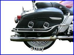 Nostalgic Saddlebag Guard Rails for 1998-2008 Harley Road King Classic Soft Bags