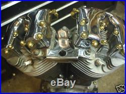 Old-Stf 1966-84 Shovelhead engine hardware oil lines Brass Dress up Kit USA