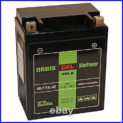 Orbis Motorradbatterie GEL 51411 14Ah 12V Starterbatterie YB14L-A2 NEU