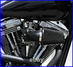 Outlaw Black Cone Air Cleaner Filter Kit For 91-15 Sportster 883 1200 XL