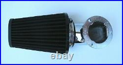 Outlaw Chrome Cone Elbow 93-13 Air Cleaner Filter Kit CV Carb Harley Big Twin