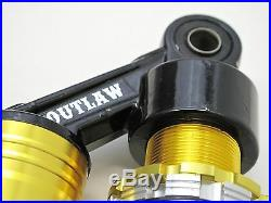 Outlaw Cycle Products Gold Harley 12.5 Piggyback Shocks Fxr Sportster