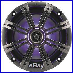 Pair KICKER 43KM654LCW 6.5 390w Marine Wakeboard Tower Speakers withLED Lights