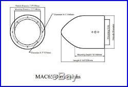 Pair KICKER 45KM654 6.5 390 Watt Black Marine Wakeboard Tower Boat Speakers