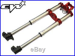 Pit bike CW Front Forks CNC Red Clamps Suspension CRF70 730mm Z140 CW 140S 140