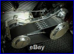 Polished Ultima 3.35 Inch Street Open Belt Drive Primary 90-06 Harley Softail