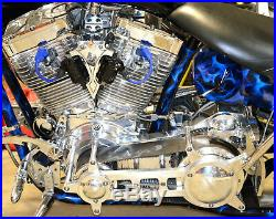 Polished Ultima 3.35 Open Drag Race Style Belt Drive Primary with Bearing Support
