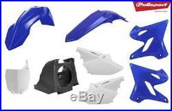 Polisport Restyle Plastic Kit Set 2018 Style Blue Yamaha YZ125 YZ250 2002-2014