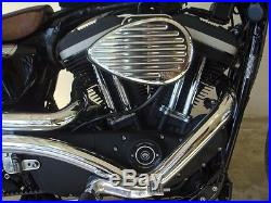 Radii Chrome 2 Curvado Big Radius Drag Exhaust Pipes 2004-2018 Harley Sportster