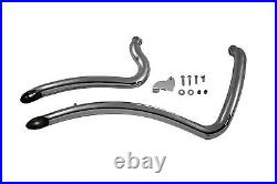 Radii Pirate Curve Chrome Exhaust System Pipe Set 1986-06 Harley Softail FXST