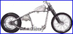 Rigid Hardtail Springer Bobber Chopper Rolling Chassis Frame Harley Kit Roller