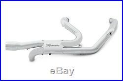 Rinehart 100-0450 Chrome Slimline True Duals Dual Headers Harley Touring 09-16