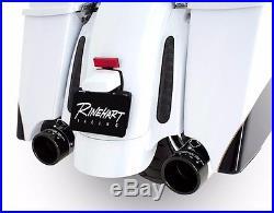 Rinehart Chrome 4 Slip-On Black Tip Mufflers Exhaust 1995-2016 Harley Touring