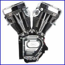 S&S Black & Chrome T111 111 Motor Engine Long Block 99-06 Harley Twin Cam TC88A