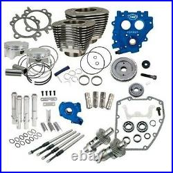 S&S Cycle 330-0665 Power Package 100 Black Big Bore Kit with 585 Gear Cams 99-06