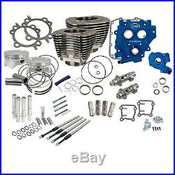 S&S Cycle Power Package 110 Black Big Bore Kit with 585 Chain Cams 07-17