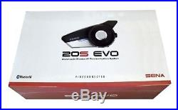 Sena 20S Evo Motorcycle Bluetooth Communication System- Single 20S-EVO-01