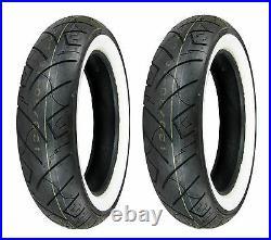 Shinko 130/90-16 & 150/80-16 777 HD White Wall Tires Harley, Kawasaki, Yamaha
