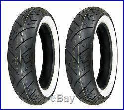 Shinko 130/90-16 & 170/80-15 777 HD White Wall Tires Suzuki VL800/VZ800 & V-Star