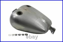 Smooth 4 Gallon Fat Bob Bobbed Dual Cap Mustang Fuel Gas Tank Harley FXR 38-0081