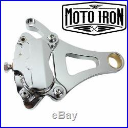 Springer Brake Caliper Chrome Left Side Moto Iron Front End harley