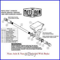 Springer Brake Caliper Chrome Left Side Moto Iron Front End harley Paughco dna