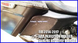 Stretched Extended Side Covers Harley Davidson HD 2009-2017 FLH Touring Baggers