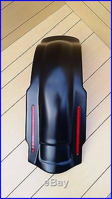 Stretched Saddlebags 6 Inc, Lids And Led Rear Fender For Harley Davidson 96/2013