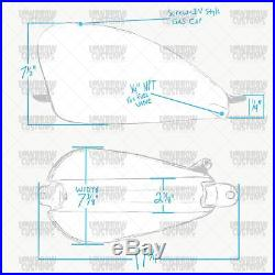 Super Narrow Frisco Sportster Gas Tank chopper Shovelhead Sportster Triumph BSA
